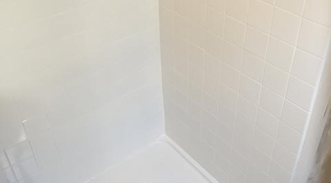 image of shower base after refinishing