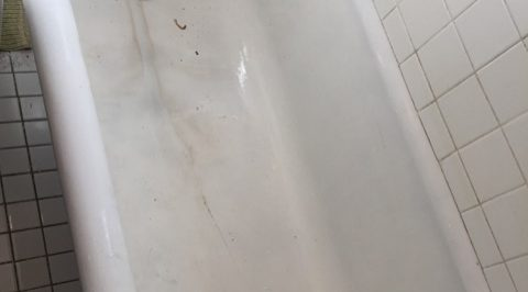 image of gla tub before refinishing