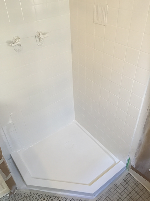 image of shower base after refinishing